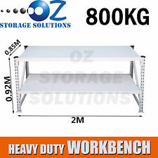 New Heavy Duty Garage Warehouse Steel Work Bench Storage Racking 2Mx0.92Mx0.85M
