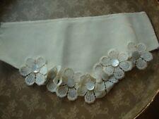 Vintage Cream Lace Dress Collar Neckline Insert Applique Embroidery