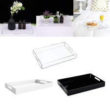 Acrylic Tray Organiser Serving Food Coffee Tea Trays Cosmetic Jewellery Storage