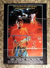 SUMMER CITY * Mel Gibson - VIDEO-POSTER A1 -German 1-Sheet ´80s JOHN JARRET
