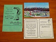 Arnold Palmer Vintage Original 1960's Putting Course Scorecard