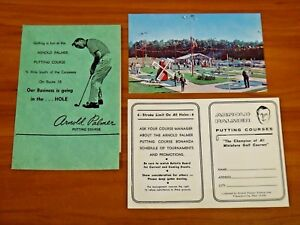 Arnold Palmer Vintage Original 1960's Putting Course Scorecard