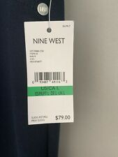 NINE WEST LADIES TROUSERS SIZE LARGE BNWT SOFT FABRIC NAVY L@@K