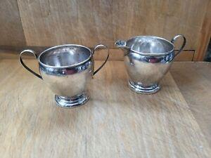 Preisner Sterling Silver Creamer and Sugar