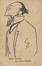 """Erik SATIE (Composer): Autograph Postcard with Surrealist Message about """"Parade"""""""