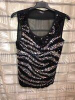 New Jane Norman Black Lace Corset Bustier Top Size 8-16
