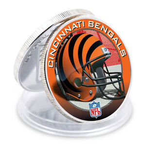 CINCINNATI BENGALS Holiday Gifts NFL Challenge Silver Plated Art Ornament