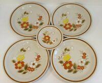 "6 Mountain Wood Trellis Blossom (4) 11"" Dinner Plates (2) Bread Plates Japan"