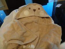 Pottery Barn Kids nursery monkey bath wrap mono Claire New wo tag