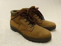 Timberland Logo Brown Leather Lace Up Trail Hiking Ankle Boots Women's Size 8 M