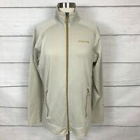 Patagonia Beige Full Zip R Regulator Polartec Fleece Jacket Large L Women's
