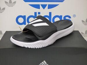 NEW ADIDAS ALPHABOUNCE SLIDES, Color Black/White; BA8775