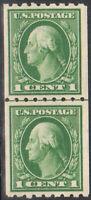 SC#410 -  1c George Washington Perf 8 1/2 Coil Pair MH