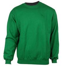 Maglioni e cardigan da uomo verde medio in cotone