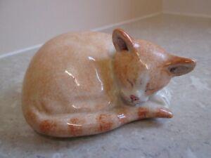 BEAUTIFUL MIRANDA C. SMITH   SLEEPING GINGER  CAT -  SIGNED