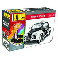 "Heller 1:24 Renault 4 CV ""Pie"" Police Car Gift Set Model Kit"