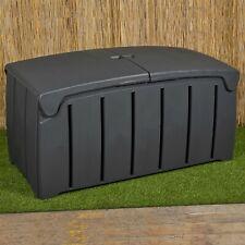 Large 300L Garden Storage Outdoor Box Waterproof Plastic Utility Chest  Unit Box