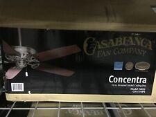 Casablanca Concentra 54 in. Indoor Brushed Nickel Ceiling Fan
