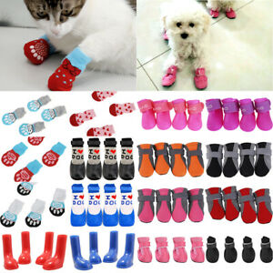 4Pcs Pet Dog Non-Slip Shoes Paw Protector / Waterproof Rain Boot Wellies Outdoor