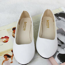 Women Ballerina Ballet Dolly Pumps Slip On Flat Boat Loafers Shoes Size Moccasin