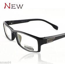 Brand New Optical Prescription Eye Glasses Soft Plastic Full Black Frames TR90