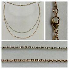 MERAVIGLIOSA COLLANA 333 oro bicolore collier gioielli oro COLLANA IN ORO 44 cm