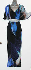 Monsoon Full Length Black Print Kimono Sleeves Wrap Maxi Party Dress UK 8  £139