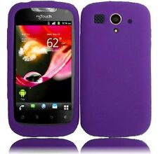 For T-Mobile Huawei myTouch Rubber SILICONE Soft Gel Skin Case Cover Dark Purple