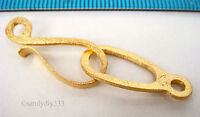 1x REAL 18K GOLD plated STERLING SILVER STARDUST EYE S HOOK CLASP BEAD 44mm G190