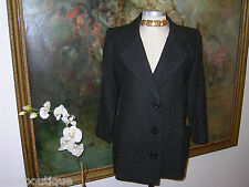LEE ANDERSON Couture BERGDORF GOODMAN Pea JACKET Gray Wool Blazer Coat Outerwear