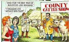 POSTCARD COMIC BAMFORTH # 1085 BULLOCKS CATTLE SHOW