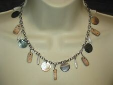 Abalone, & Picture Jasper -Rv $72 Lia Sophia Beachfront Necklace -Genuine Mop,
