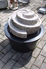 Wasserspiel Spirale Granit  Komplettset Pumpe/Becken Wasserstein Zierbrunnen