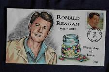 Ronald Reagan US President Forever Stamp FDC HP Collins#I4802 S#4494 Jelly Beans
