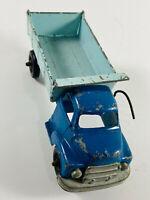 Vintage Blue Dump Truck Pressed Steel tootsie toy hubley