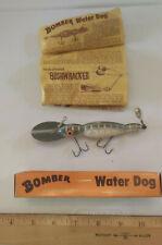 "Vintage Bomber Baits -   Waterdog -4 1/2"" Large -green  w/ White"