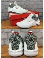 NIKE UK 4 EU 36.5 AIR JORDAN FIRST CLASS WHITE TRAINERS CHILDRENS BOYS GIRLS LG