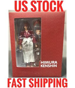 (US Stock) GT toys Dasin RED Himura Kenshin pvc 1/12 Action Figure 7 inches