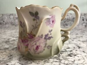 Vintage Nippon Mustache Cup Hand Painted