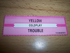 """1 Coldplay Yellow / Trouble Jukebox Title Strip 7"""" 45RPM Records"""