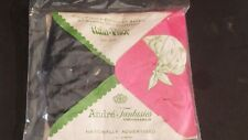 Vintage New Sealed Andre Fantasies Black Hair Rain Bonnet Visor