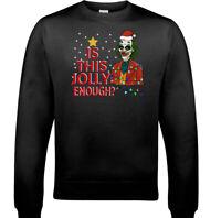 CHRISTMAS JOKER JUMPER Mens This Jolly Enough Batman Joaquin Phoenix SWEATSHIRT