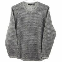 Jeanne Pierre Women's Cable Knit Sweater, Grey Combo, X-LARGE