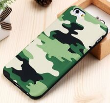 For iPhone 6+ / 6S+ Plus - HARD RUBBER TPU SKIN CASE GREEN CAMO ARMY MILITARY