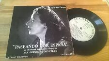 "7"" Ethno Germaine Montero - Paseando Por Espana (13 Song) LE CHANT D MONDE"