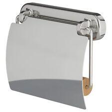 Portarotolo in acciaio inox cromato carta igienica titolare Bagno con Coperchio