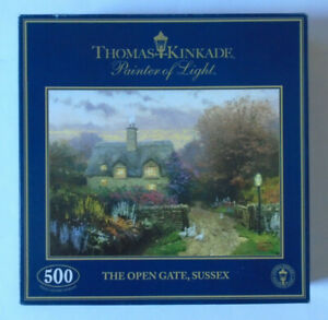 THOMAS KINKADE - THE OPEN GATE, SUSSEX 500 PIECE JIGSAW PUZZLE - VERY GOOD COND.