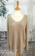REISS Gold/pink sparkly jumper size L