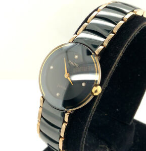 Rado Diastar Jubile Diamond & Black Ceramic Two-Tone Wrist Watch - 204.0302.3