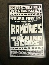 "The Ramones & Talking Heads 1977 New York Cardstock Concert Poster 12"" x 18"""